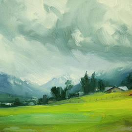Wallowa Valley Storm by Steve Henderson
