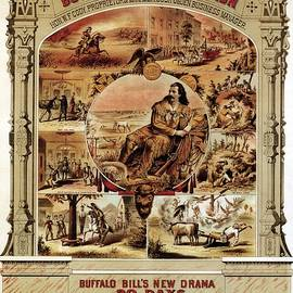 Walnut St. Theatre - Buffalo Bill Combination - Retro travel Poster - Vintage Poster - Studio Grafiikka