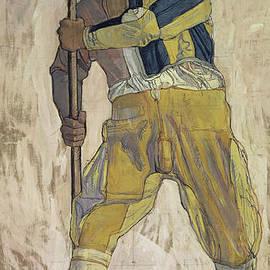 Warrior with halberd - Ferdinand Hodler
