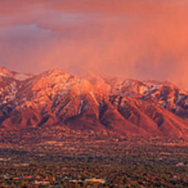 Johnny Adolphson - Wasatch Sunset from Ensign Peak.