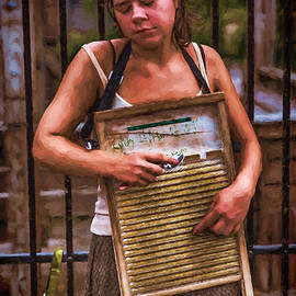 John Haldane - Washboard Woman on the Street