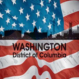 Washington Dc American Flag Squared by Angelina Tamez