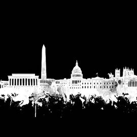 washington dc skyline black and white 2 - Bekim Art