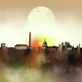 Bekim Art - washington dc skyline surrealism
