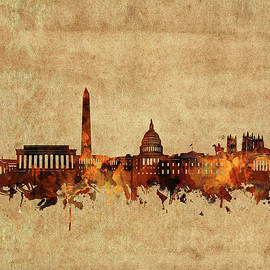Bekim Art - washington dc skyline vintage 2