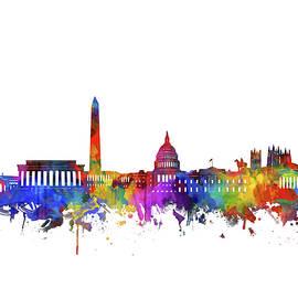 washington dc skyline watercolor - Bekim Art