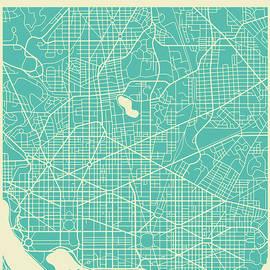 WASHINGTON DC STREET MAP - Jazzberry Blue