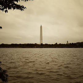 Washington Monument in Sepia by Bill Cannon