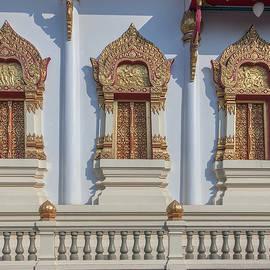 Wat Ratcha Thanee Phra Ubosot Windows Dthst0218 by Gerry Gantt