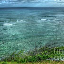 Reid Callaway - Watching From Afar Kuilei Cliffs Beach Park Surfing Hawaii Collection Art