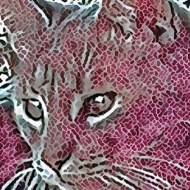 Dorothy Berry-Lound - Watchful Cat in Mosaic