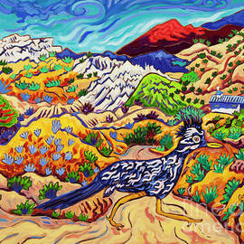 Watchin' the Sly roadrunner Flee by Cathy Carey