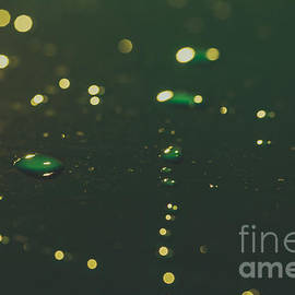 Water Drops On Surface 8 by Marc Daly