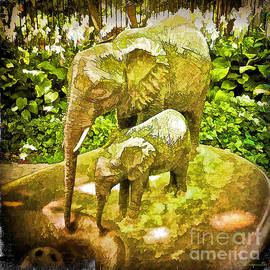 Water Fountain At The Lincoln Park Zoo by Eleanor Abramson