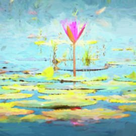 Stephen Stookey - Water Lily - Tribute to Monet