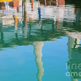 Water Reflections Of Morro Bay  Dock by Sharon Foelz