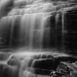 Water Veil Black and White by Bill Wakeley