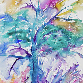 Cascade Colors - Watercolor - Colorful Abstract Tree