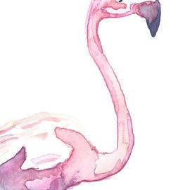 Watercolor Flamingo II by D Renee Wilson