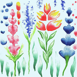 Irina Sztukowski - Watercolor Magic Flowers Magic Garden For Baby Room