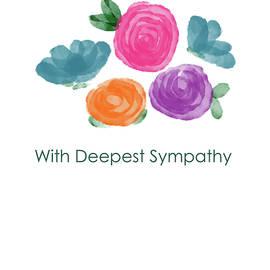 Watercolor Rose Sympathy Card- Art by Linda Woods - Linda Woods