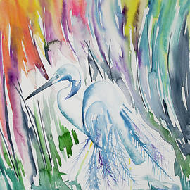 Cascade Colors - Watercolor - The Elegant Great Egret