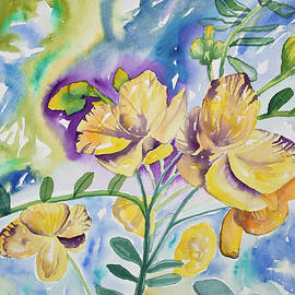 Cascade Colors - Watercolor - Tropical Yellow Flowers