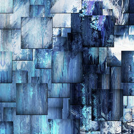 Georgiana Romanovna - Waterfall Blues Contemporary Abstract Art