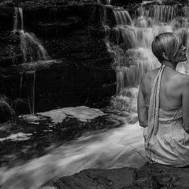 Waterfall Muse bw by Tim Beebe