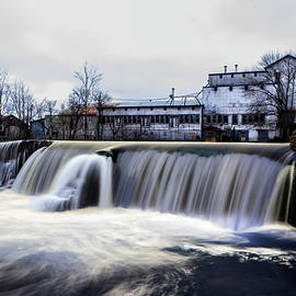 Tyler Schlitt - Waterfall with Old Saw Mill