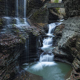 Watkins Glen Rainbow Falls by Stephen Stookey