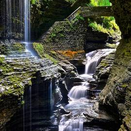 Watkins Rainbow Falls by Frozen in Time Fine Art Photography