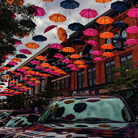 Wausau's Downtown Umbrellas by Dale Kauzlaric