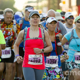 Wave Start At Pikes Peak Marathon And Ascent by Steve Krull