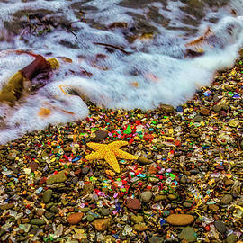 Wave Washing Over Starfish - Garry Gay