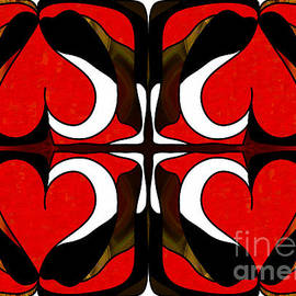 Wavering Hearts Abstract Bliss Art By Omashte by Omaste Witkowski