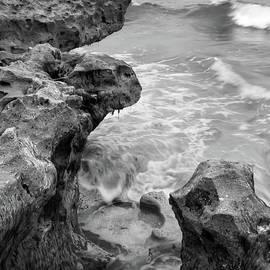 Waves And Coquina Rocks, Jupiter, Florida #39358-bw by John Bald