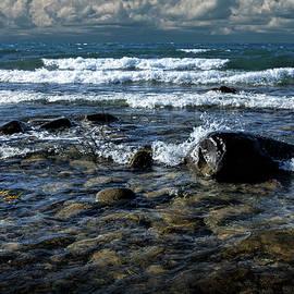 Randall Nyhof - Waves on the Lake Michigan Shore