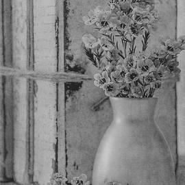 Teresa Wilson - Waxflowers and Books in Black and White