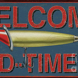 Welcome Fishing Sign by JQ Licensing