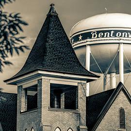 Gregory Ballos - Welcome to Bentonville Arkansas Sepia