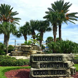 Welcome To Downtown Cocoa Beach by Denise Mazzocco