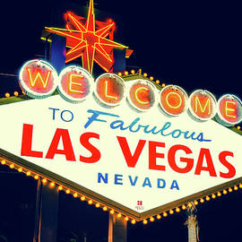 Gregory Ballos - Welcome to Las Vegas Neon Sign - Nevada USA
