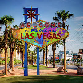Ricky Barnard - Welcome To Las Vegas Sign Paint II