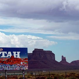 Thomas Woolworth - Welcome To Utah Signage With Monument Valley