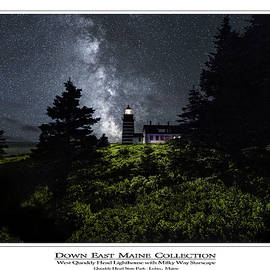 Marty Saccone - West Quoddy Head Lighthouse with Milky Way Starscape 2