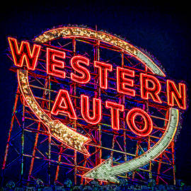 Kevin Anderson - Western Auto Sign Digital Art