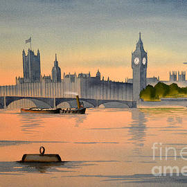 Westminster And Big Ben  by Bill Holkham
