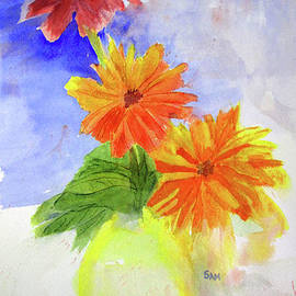 Sandy McIntire - Wet Zinnias