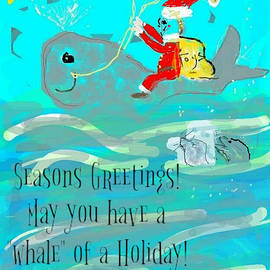 Whale of a Holiday Greeting Card